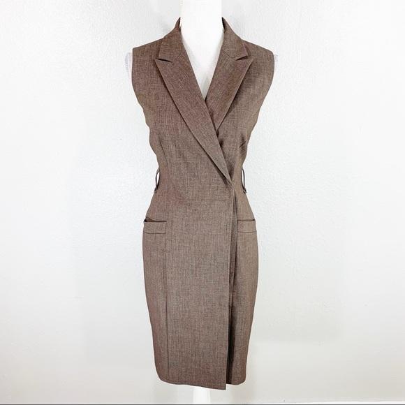 Calvin Klein Dresses & Skirts - Calvin Klein brown sleeveless faux wrap dress